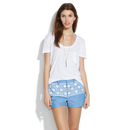 Chambray Sunstitch Shorts