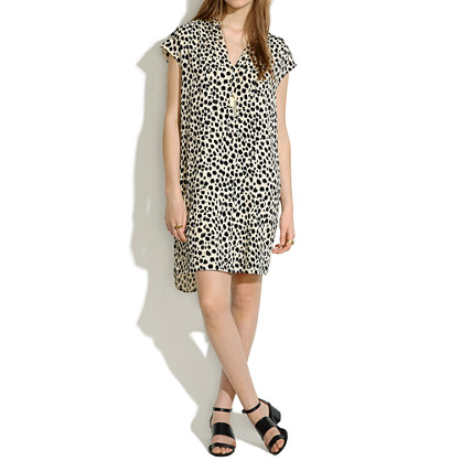 Morningside Shiftdress in Leopard Sketch