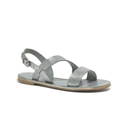 The Slingback Sightseer Sandal in Silver