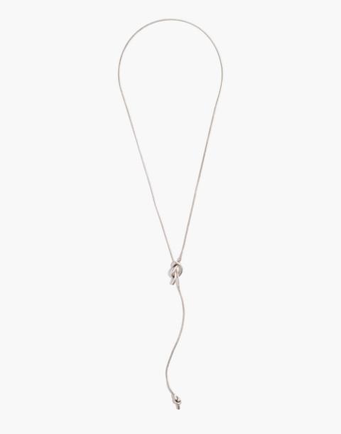 Knotshine Necklace in light silver ox image 2