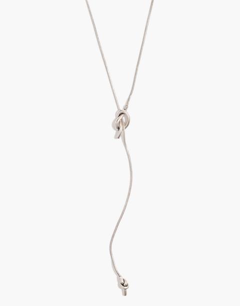 Knotshine Necklace in light silver ox image 1