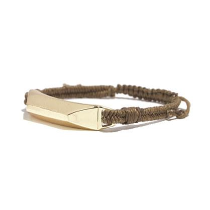 Wide Woven ID Bracelet