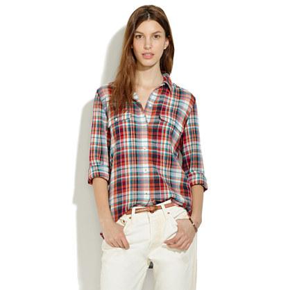 Ex-Boyfriend Shirt in Persimmon Plaid