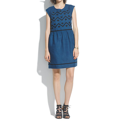 Indigo Linen Sandwave Dress
