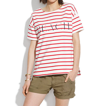 Beach Shirttail Tee in Stripe