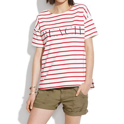 Beach Shirttail Tee in Stripe