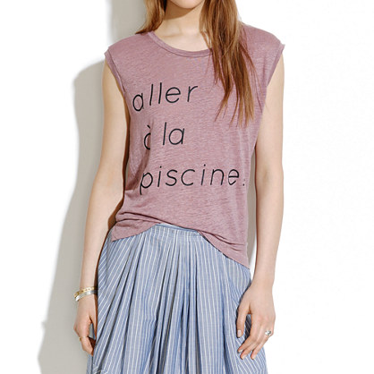 Linen piscine muscle tee linen tees tanks madewell for What does piscine mean in french