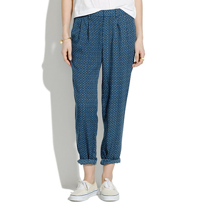 Delancey Slouch Trousers in Night Dot