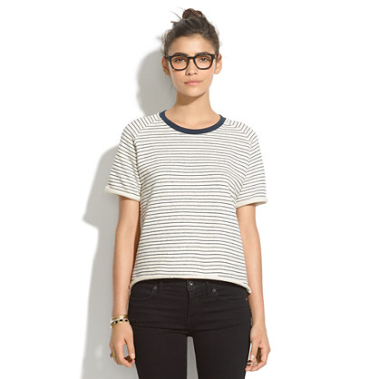 Lbt-Lbt Noise Short-Sleeve Sweatshirt in Stripe