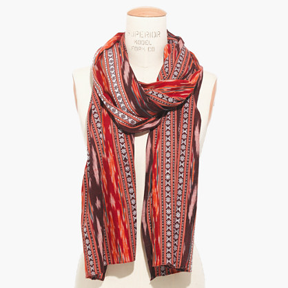 flameweave ikat scarf scarves madewell