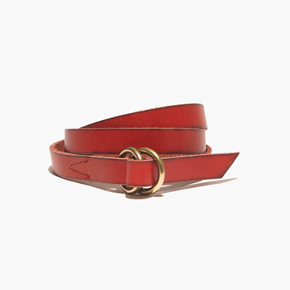 Skinny Double-Ring Belt