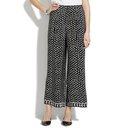 Silk Hester Trousers in Moroccan Floral