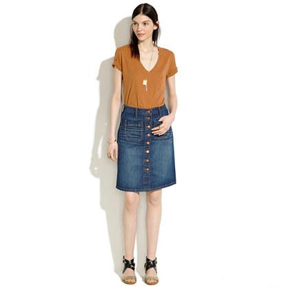 High-Rise Jean Skirt