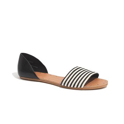 The Thea Sandal in Ticking Stripe
