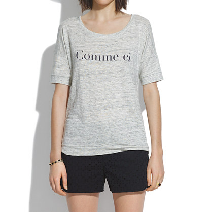 Comme ci Comme �a Banded Tee