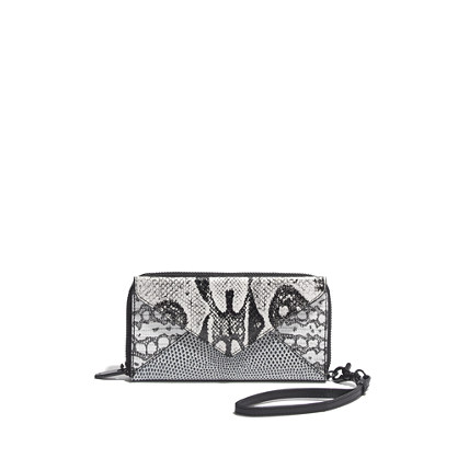 Loeffler Randall® Zip Wallet in Embossed Lizard