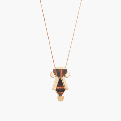 Tiger's Eye Geodrop Pendant Necklace