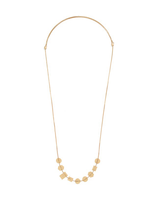 Holding Pattern Necklace in vintage gold image 2