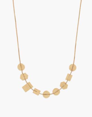Holding Pattern Necklace in vintage gold image 1