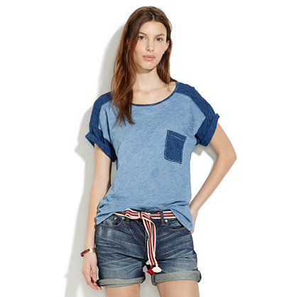 Indigo Ink Shirttail Tee in Colorblock