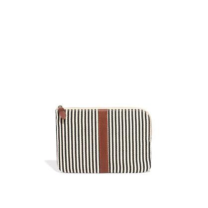 The Zip Pochette in Ticking Stripe