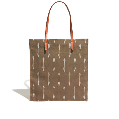 The Simple Tote in Arrow Ikat