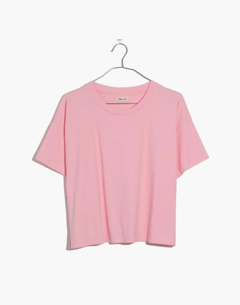 Crop Tee in petal pink image 1