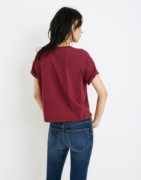 Crop Tee in dusty burgundy image 3