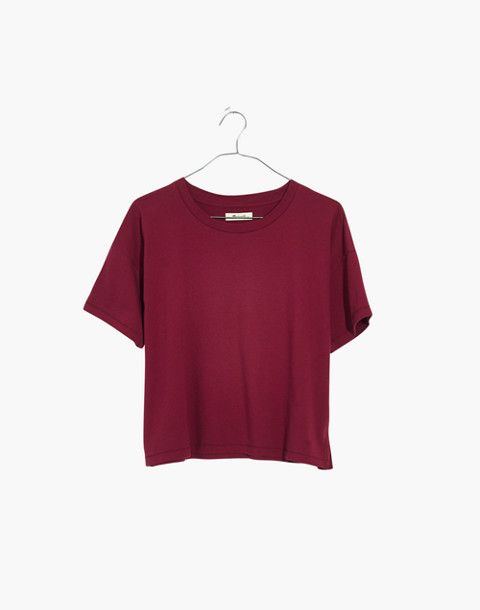 Crop Tee in dusty burgundy image 4
