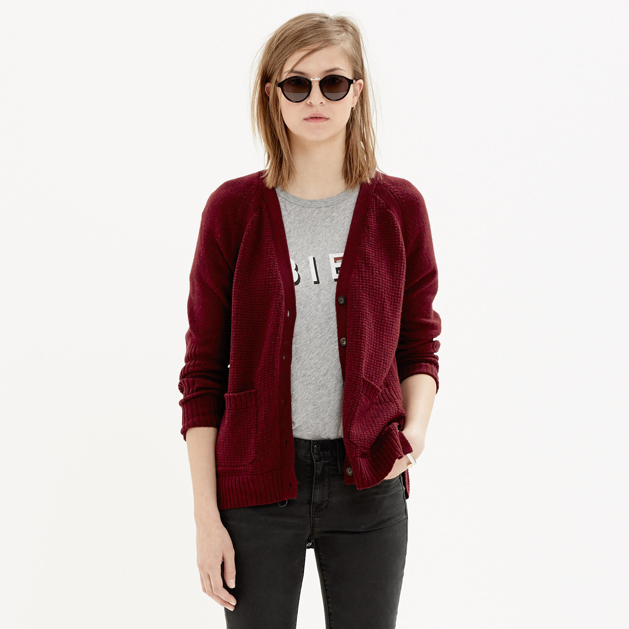 Texturework Cardigan : cardigans & sweater-jackets | Madewell