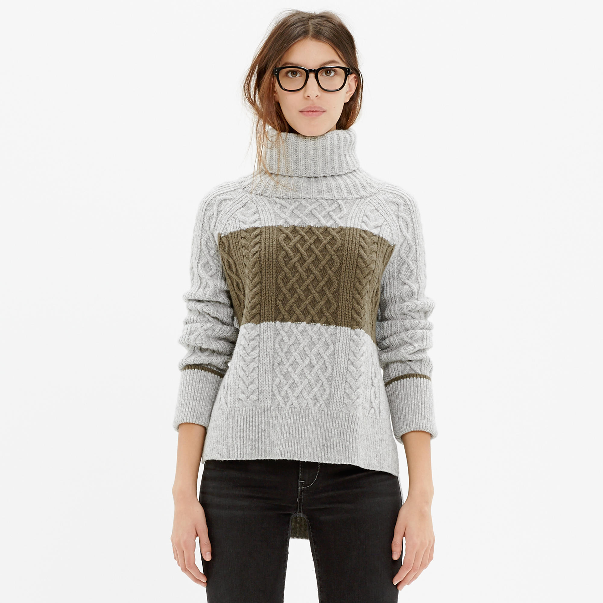 Cityblock Turtleneck Sweater in Colorblock : pullovers | Madewell