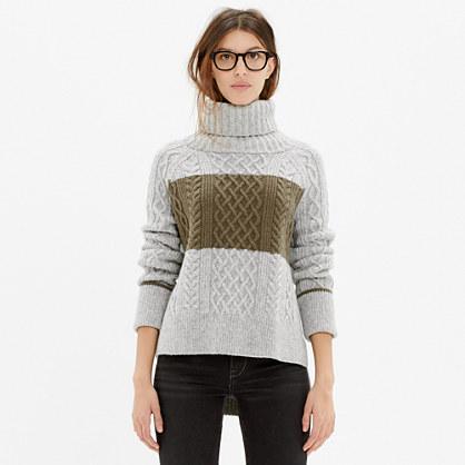 Cityblock Turtleneck Sweater in Colorblock