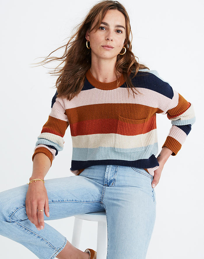 madewell fall striped sweater
