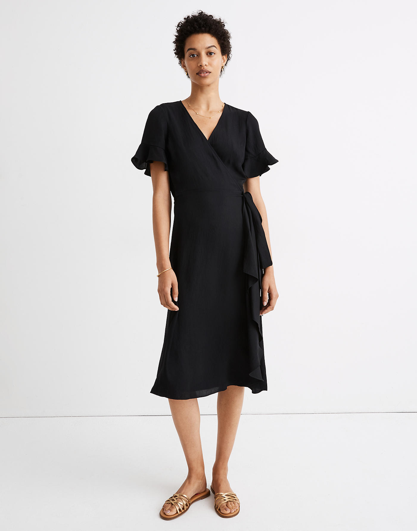 Madewell Ruffle-Sleeve Wrap Dress