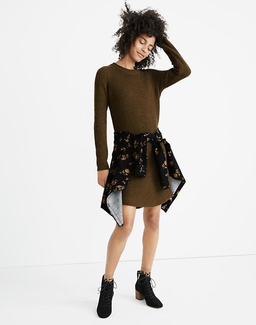 Petite Curved Hem Sweater Dress by Madewell