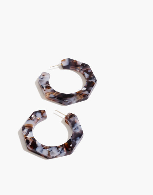 Acetate Octagonal Hoop Earrings by Madewell