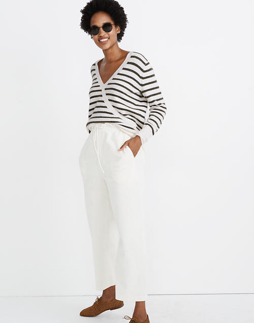 Wrap Front Sweater In Elthorne Stripe by Madewell