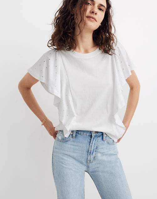 Holepunch Mix Flutter Top by Madewell
