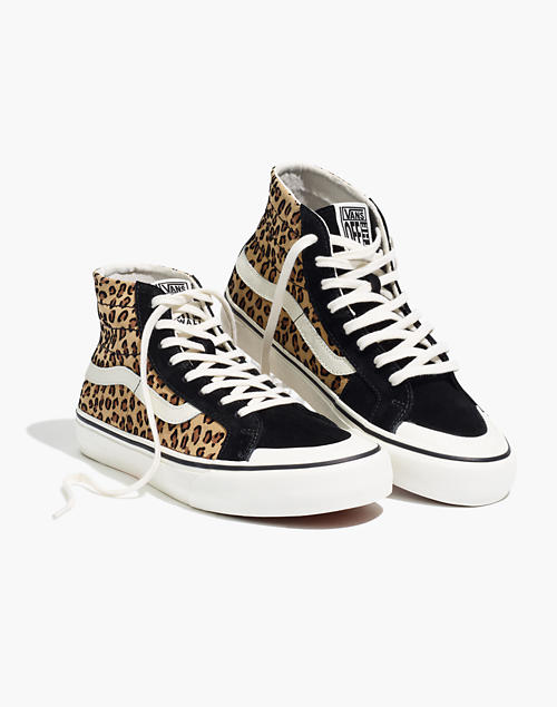 Vans® Unisex Sk8 Hi 138 Decon Sf High Top Sneakers In Leopard Colorblock Suede by Madewell
