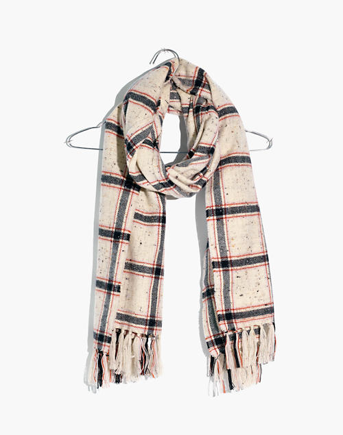 Knotted Fringe Scarf In Hanstone Plaid by Madewell