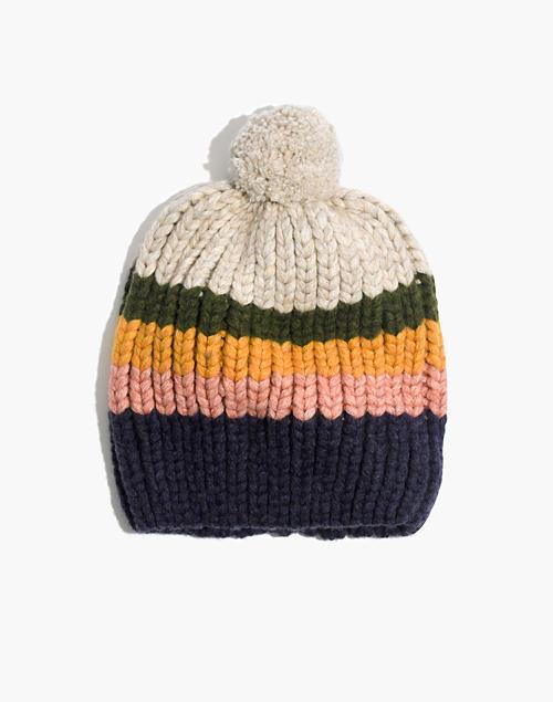 striped-pom-pom-beanie by madewell