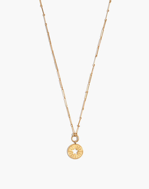 Star Token Pendant Necklace by Madewell