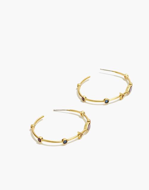 Finespun Oval Hoop Earrings