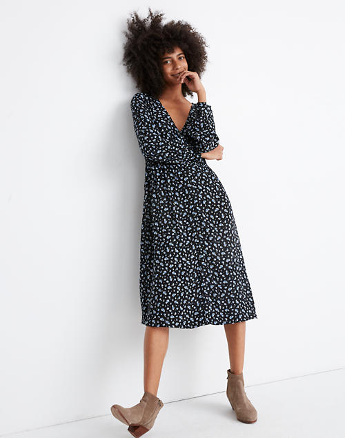 Long Sleeve Button Front Dress In Baby's Breath by Madewell