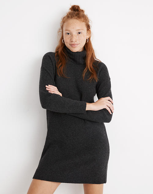 Foldover Turtleneck Sweater Dress by Madewell