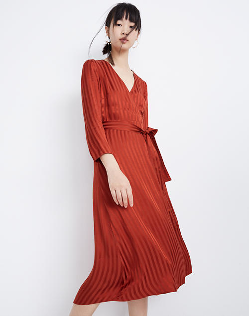 Satin Robe Wrap Dress by Madewell
