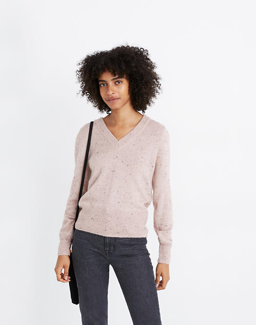 Donegal Westgate V Neck Sweater In Coziest Yarn by Madewell