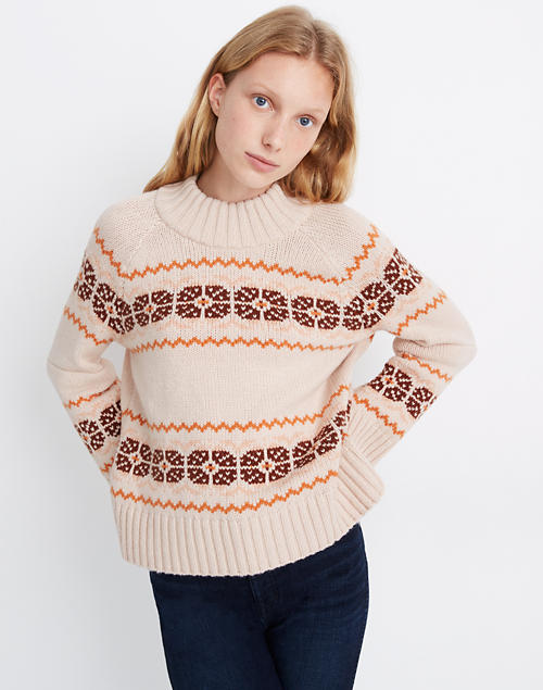 Overbrook Fair Isle Mockneck Sweater by Madewell