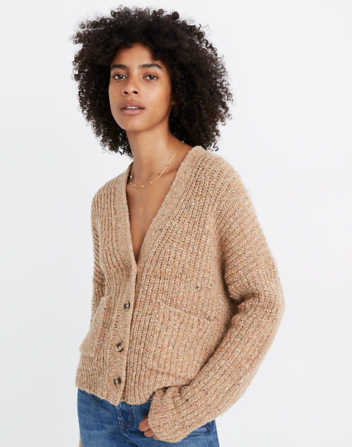 Speckled Rib Cardigan Sweater by Madewell