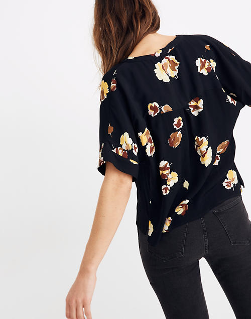 Getaway Oversized Button Down Shirt in Gallery Floral